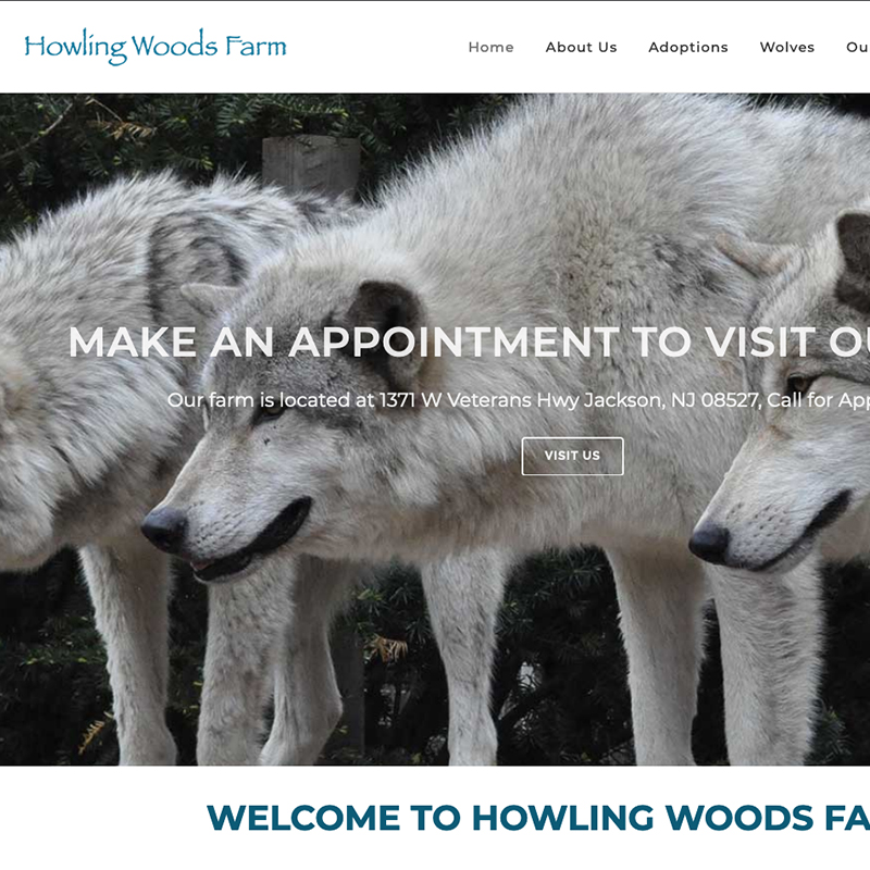 NYC Web Development, Howling Woods Farm