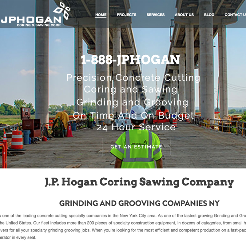 NYC Construction Web Design